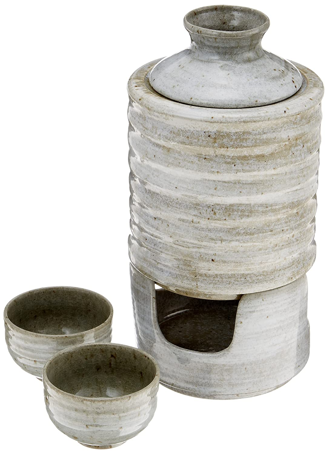Also can cold vessel set celadon brush bottle and hot sake cold sake pottery Mino gift present (japan import) Yale net