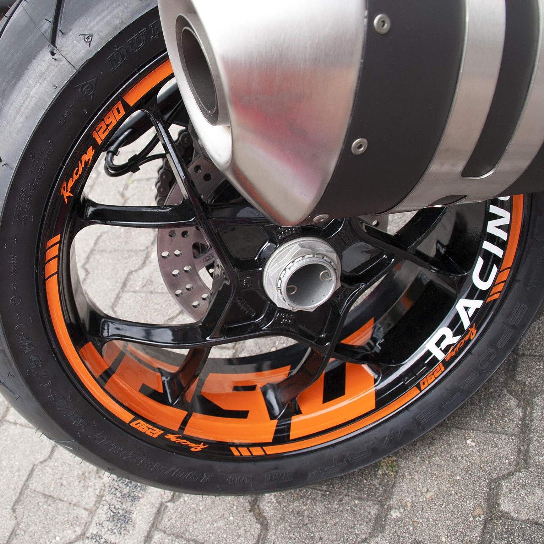 Felgenaufkleber kompatibel mit Supermoto KTM SuperDuke SD 1290 R Felgenrandaufkleber Aufkleber Wheel Sticker