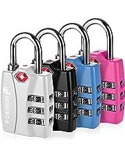 Fosmon Bloqueo de Equipaje - Cerradura de combinación de 3 dígitos (4 Pack)