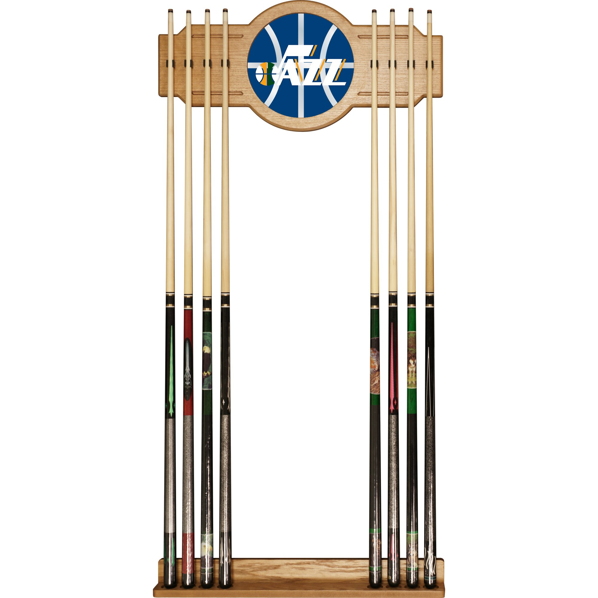 Trademark Gameroom NBA6000-UJ2 NBA Cue Rack with Mirror - Fade - Utah Jazz