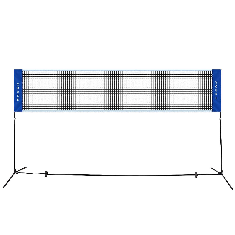 Hauteur r/églable 100CM to 155CM Pliable 5.1M Filet de Volleyball//Badminton Filet de Loisirs R/églable en Hauteur pour Plage Facile /à Transporter Filet de Sport Int/érieur Ext/érieur Facile /à Monter