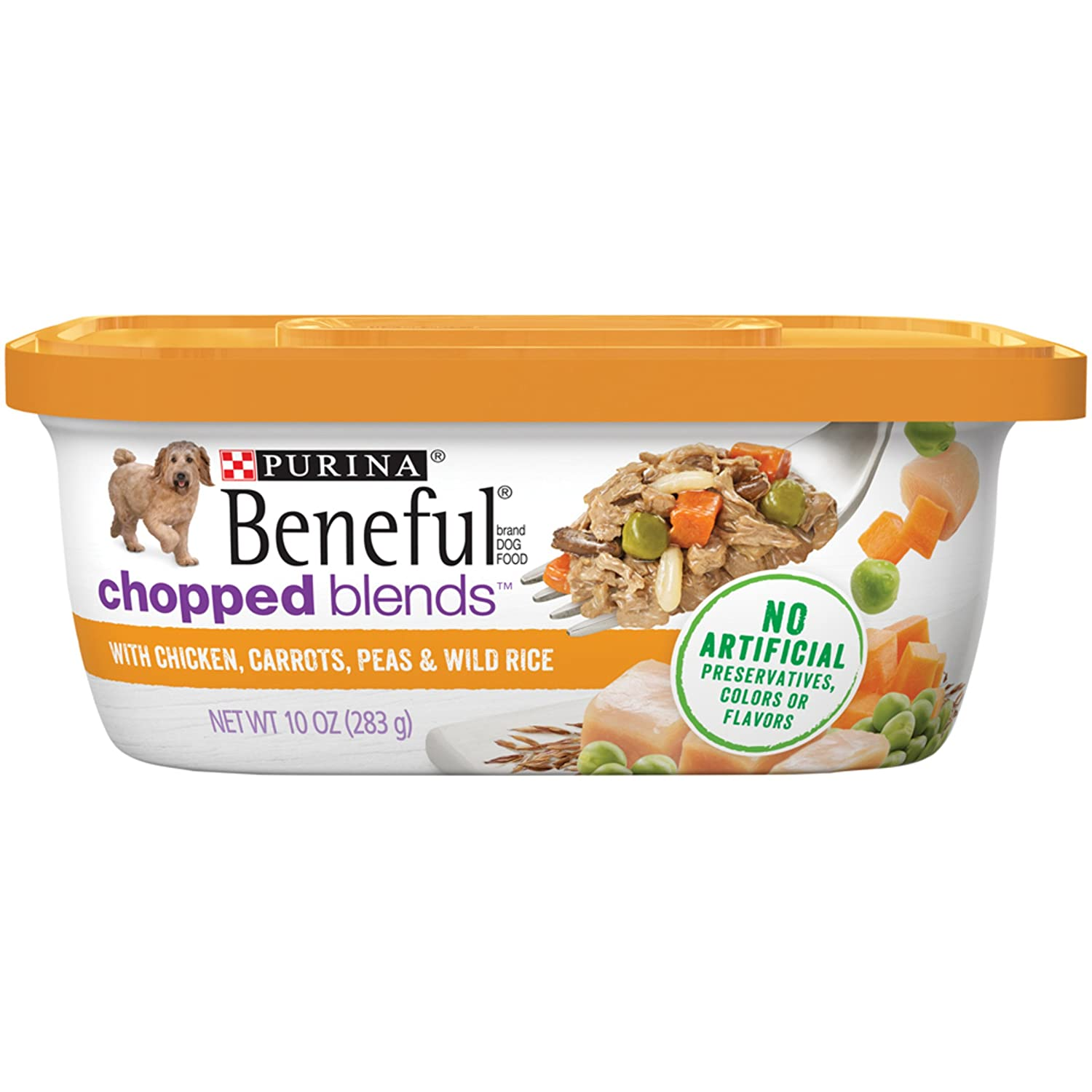 Amazon.com : Purina Beneful Chopped Blends with Chicken Carrots Peas ...