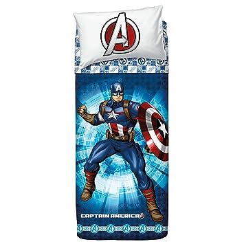 Bassetti 9286345 Captain America Bettwäsche Blau Amazonde Küche