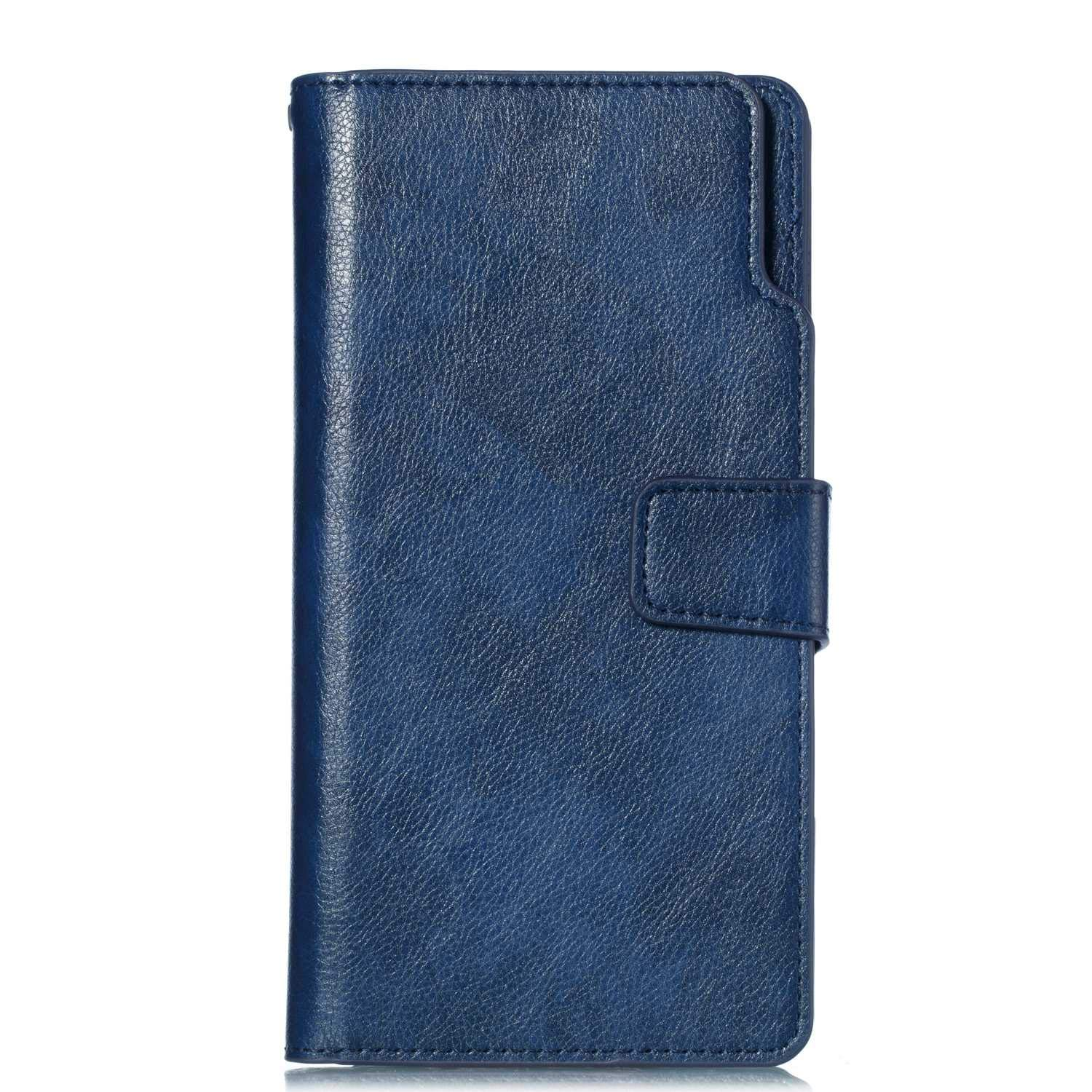 UNEXTATI Galaxy Note 8 Wallet Case, Leather Folding Flip Case with 9 Card Holder, Classic Design Protective Cover Bumper Case for Samsung Galaxy Note 8 (Blue #2)