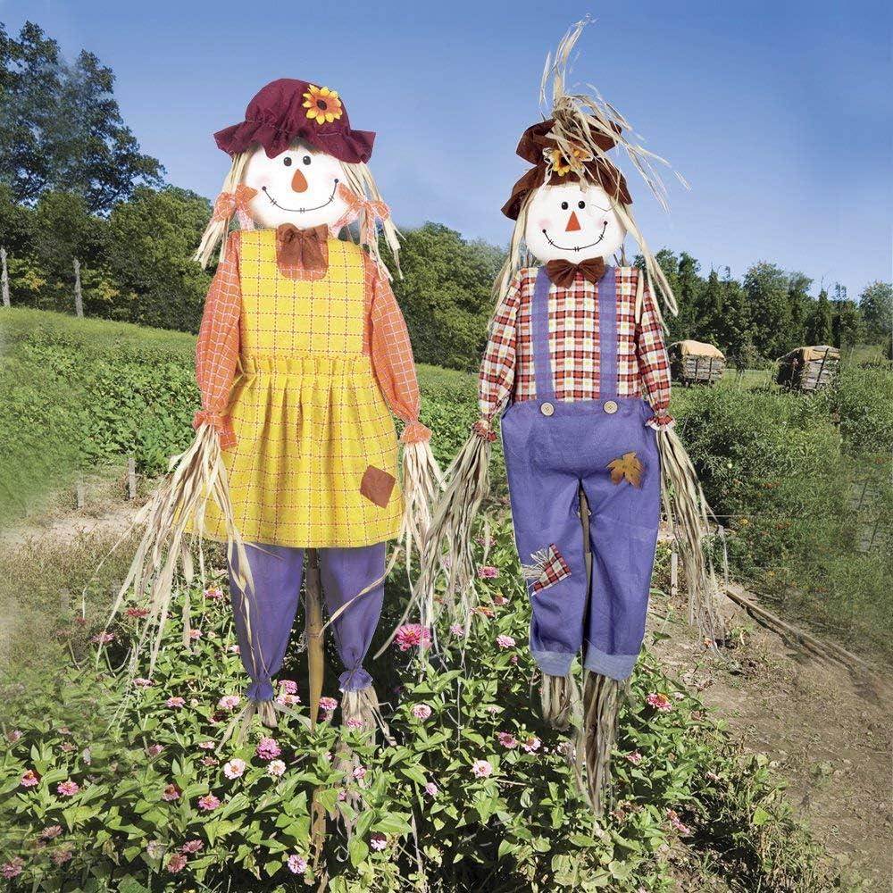 Garden Gear Scarecrows Adorno de jardín Paquete de Dos Piezas de disuasión para Aves (Paquete de 2 pies con espantapájaros y Dos Camas): Amazon.es: Jardín