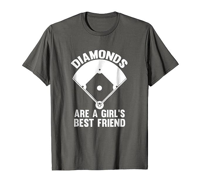 257f619e Mens Funny Diamonds Are A Girl's Best Friend Softball T-Shirt 2XL Asphalt
