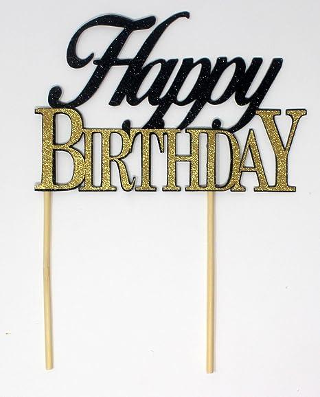 Amazon.com: All About detalles Happy Tarta de cumpleaños ...