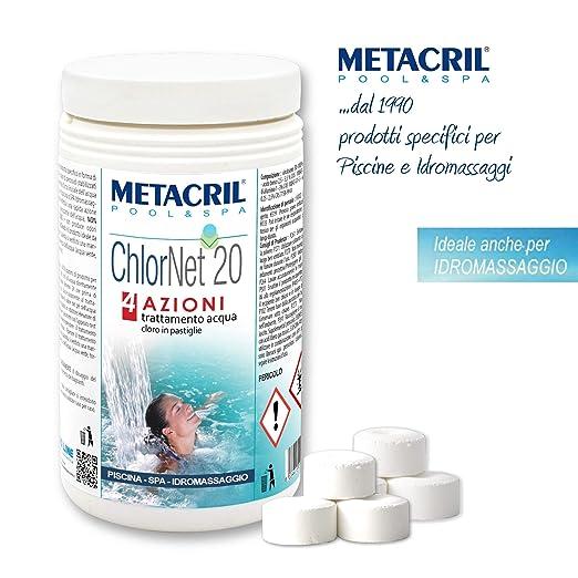 Metacril Chlor Net 20 4 acciones - Cloro Piscina multiacción ...