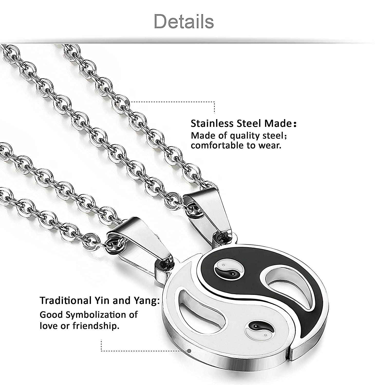 Jstyle jewelry stainless steel yin yang necklace friendship jstyle jewelry stainless steel yin yang necklace friendship couples necklace 2 piece pendant 56 cm amazon jewellery biocorpaavc