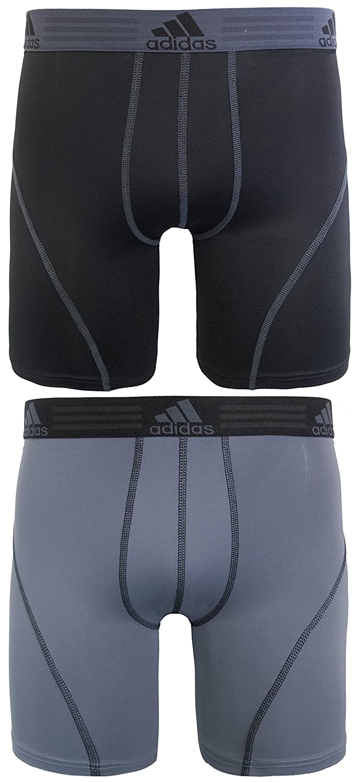 adidas Men's Sport Performance Climalite 9-Inch Midway Underwear (2-Pack) Agron Underwear