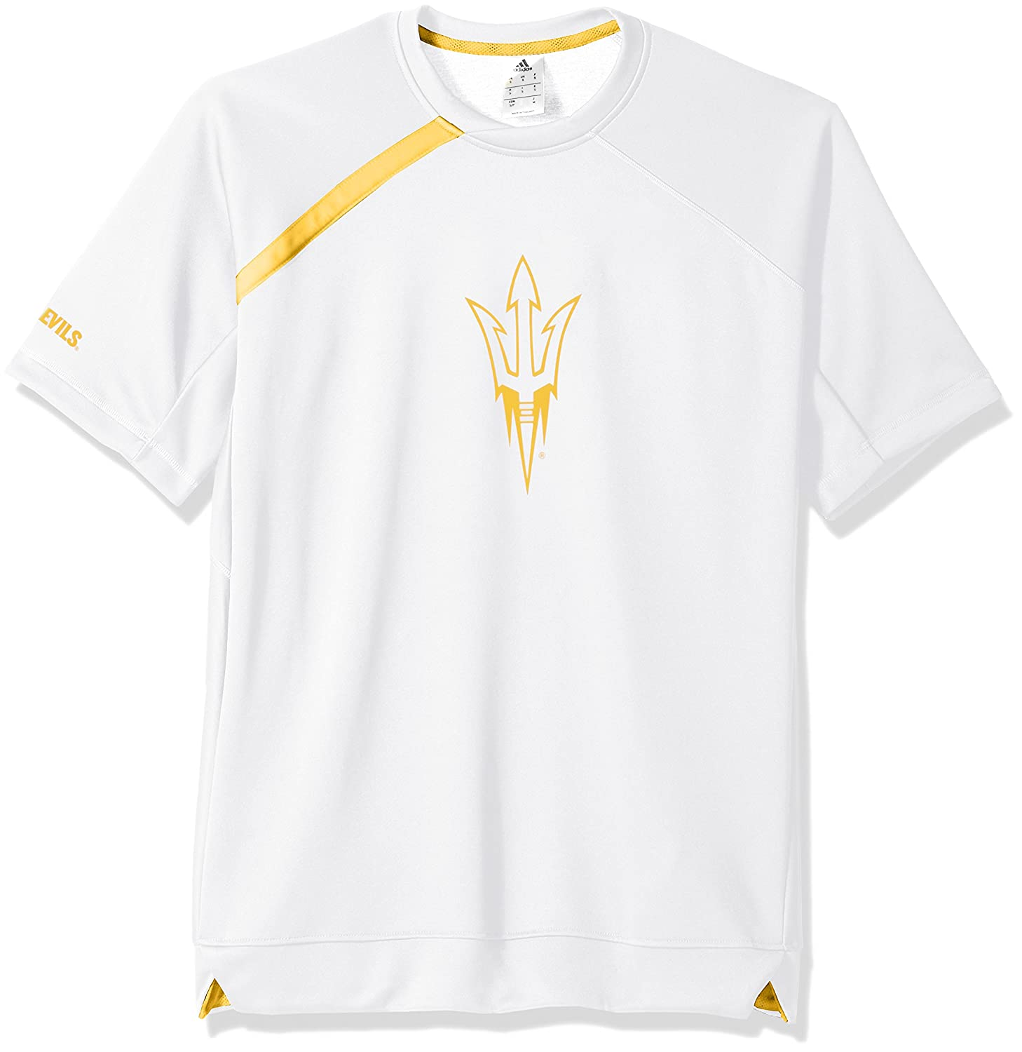 NCAA Arizona State Sun Devilsメンズon Court S/Shooting shirton Court S/シューティングシャツ、ホワイト、スモール B075375Q26