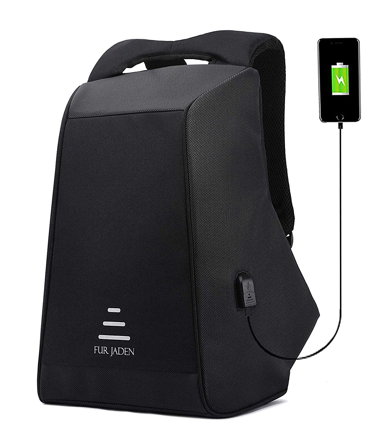 Fur Jaden Anti Theft Waterproof USB Charging 20 Ltrs Grey