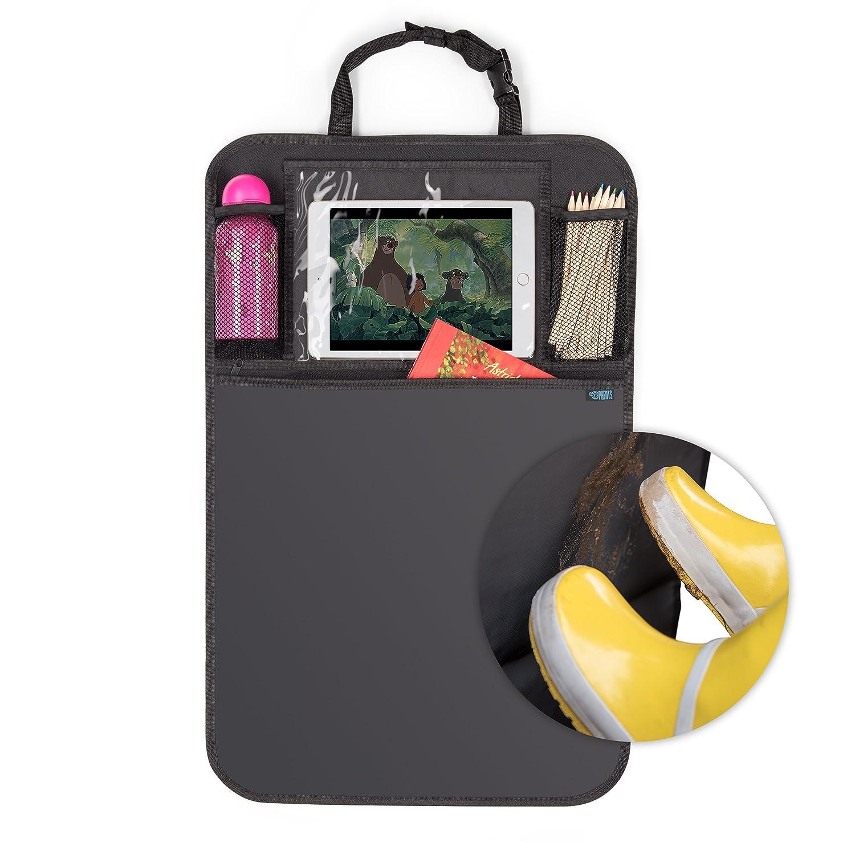 Laleni Organisateur De Siège Voiture - Taille Universelle - Protection Et Rangements - Compartiment iPad/Tablette - Noir - 72x46cm