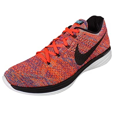 newest 825fc bad19 Amazon.com   NIKE Men s Flyknit Lunar3, Concord Black-Total Crimson-Total  Orange, 12.5 M US   Fashion Sneakers
