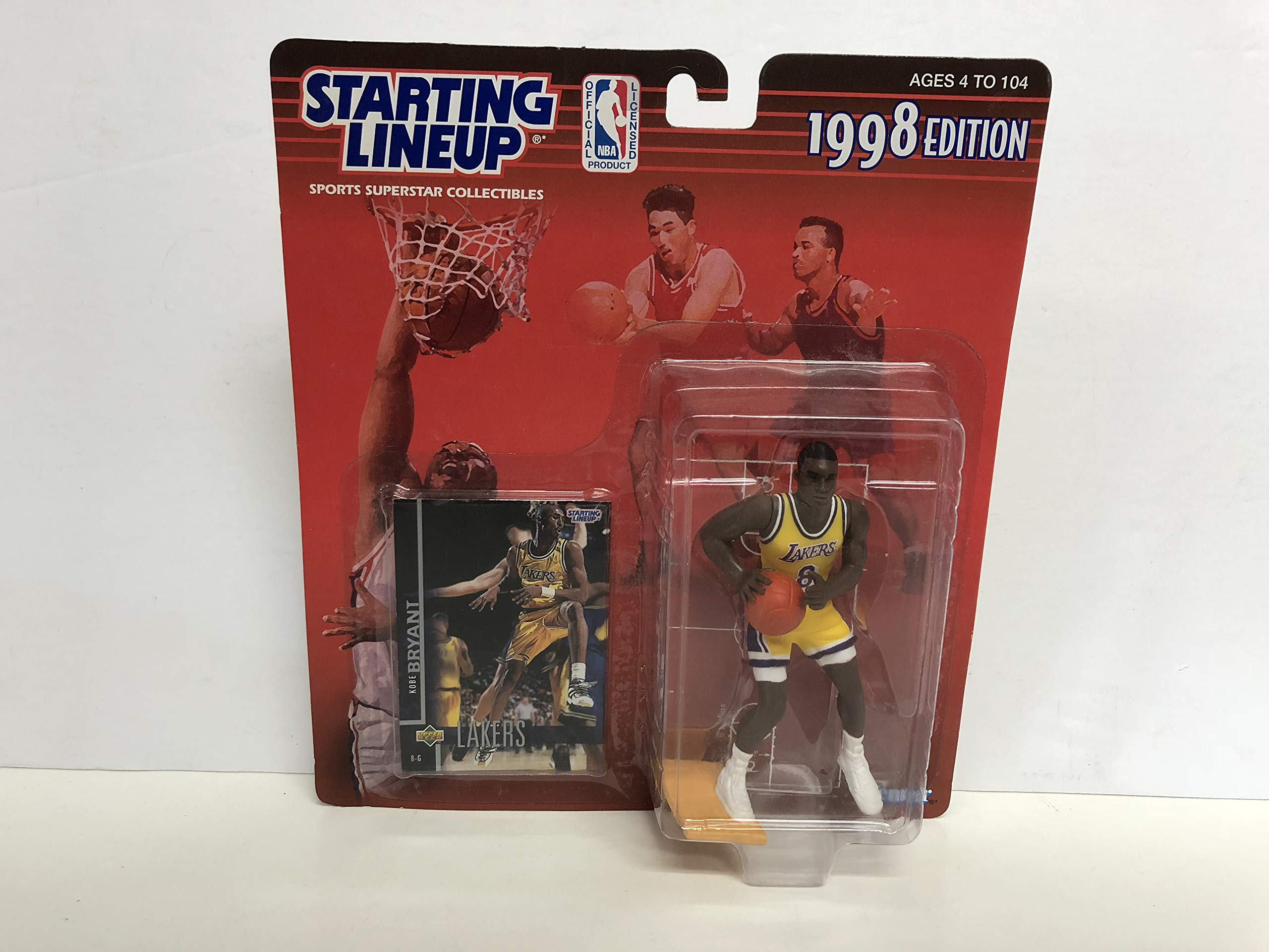 Kobe Bryant Los Angeles Lakers Collectible Action Figure Toy with Trading Card