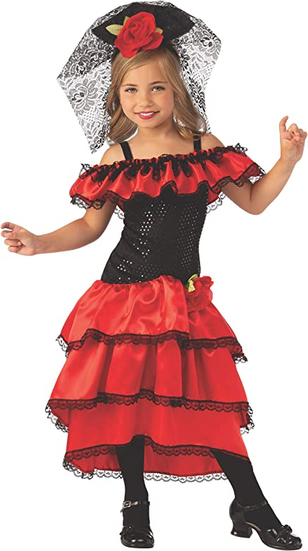 Rubies Disfraz de Flamenco para niñas Bailarinas españolas, como ...