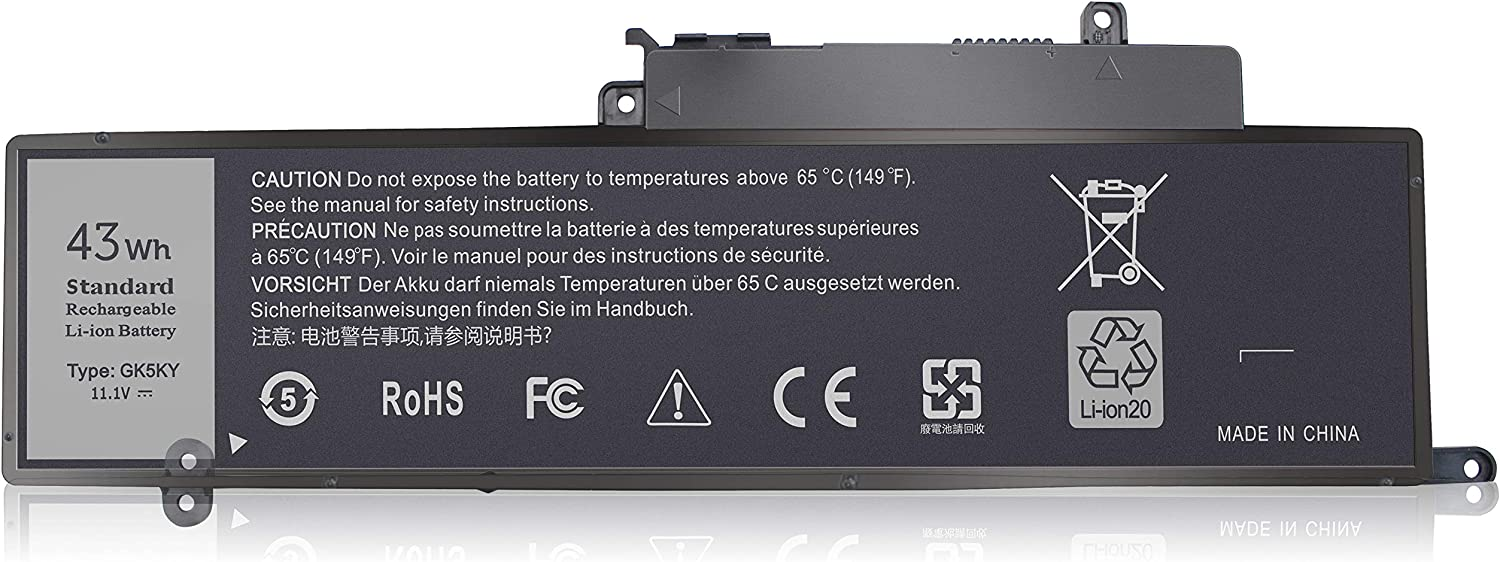LXHY GK5KY 11.1V 43Wh Laptop Battery Compatible with Dell Inspiron 11 3000 3147 3148 3152 3153 3157 3158 7000 7347 7348 7352 7353 7359 15 7000 7558 7568, GK5KY P20T 92NCT 04K8YH 4 Cells Replacement