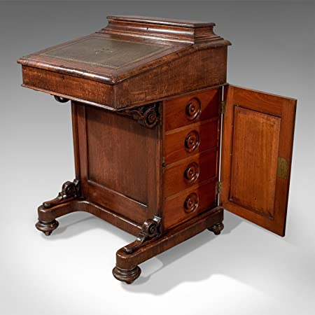 London Fine Antiques Victoriano Antiguo Davenport, Escritorio, Mesa de Roble Inglés Circa 1870: Amazon.es: Hogar