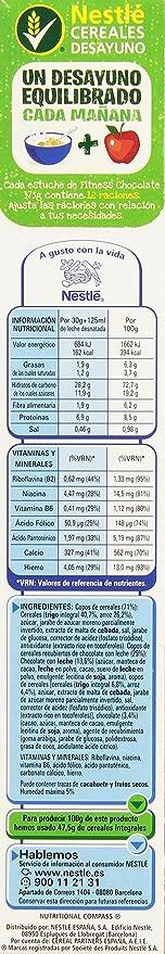 Nestlé Fitness Milk Chocolate - Cereales para el desayuno, 375 g: Amazon.es: Alimentación y bebidas