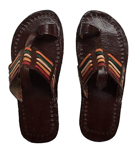 9e4eef2dbd497 Neuf Cuir marocain Sandales Chaussures Couleurs Rasta fabriquée à la Main  en Cuir de qualité (