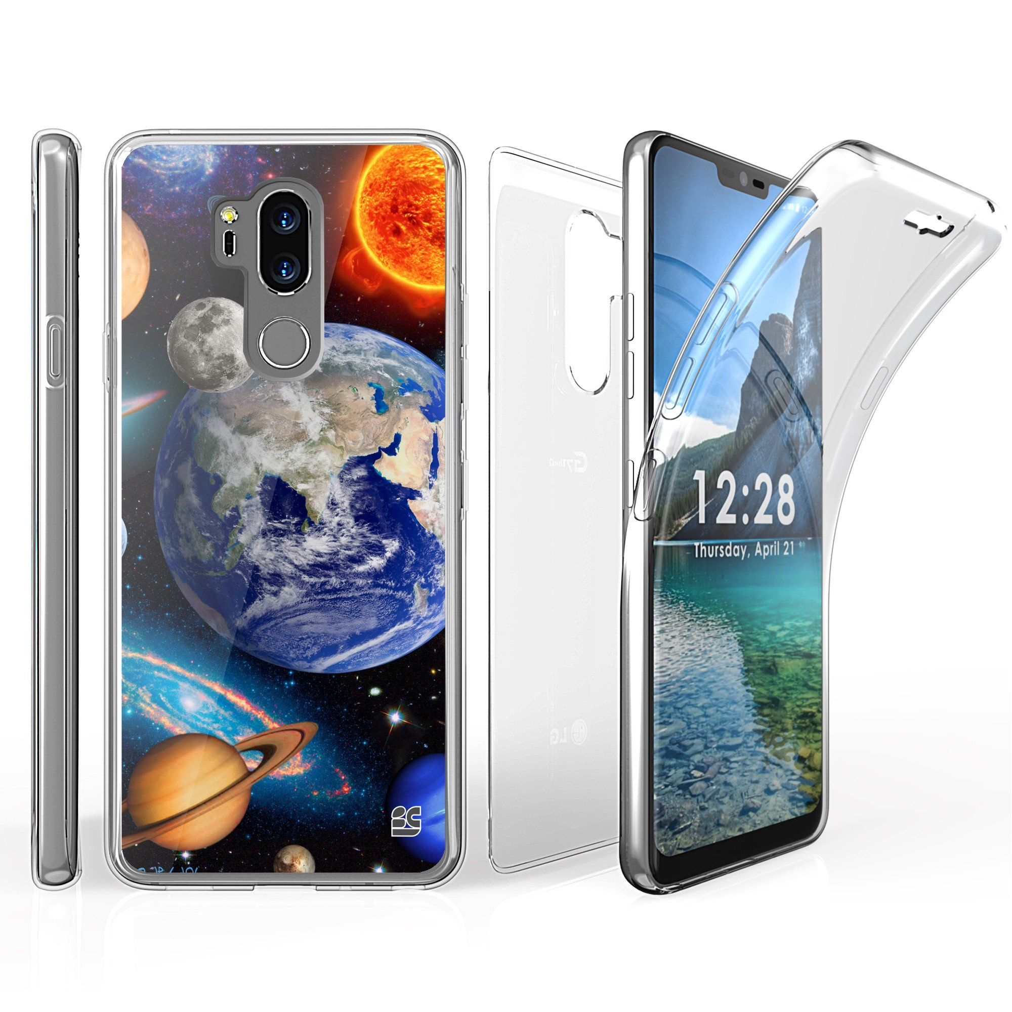 LG G7 ThinQ Case, BeyondCell TriMax 360 Clear Full Body Built in Screen Protector For LG G7 (2018 Released) - Solar Planet Galaxy