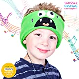 Snuggly Rascals (v2) Kids Headband Headphones - Ultra-Comfortable, Volume Limited and Size Adjustable. (Fleece, Monster)