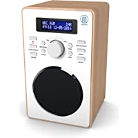 Majority Barton II Radio numérique Dab/Dab+ - Radio FM - Cuisine et Chevet Radio - Radio Reveil Bois - Double Alarme - Snooze Fonction (Chêne)
