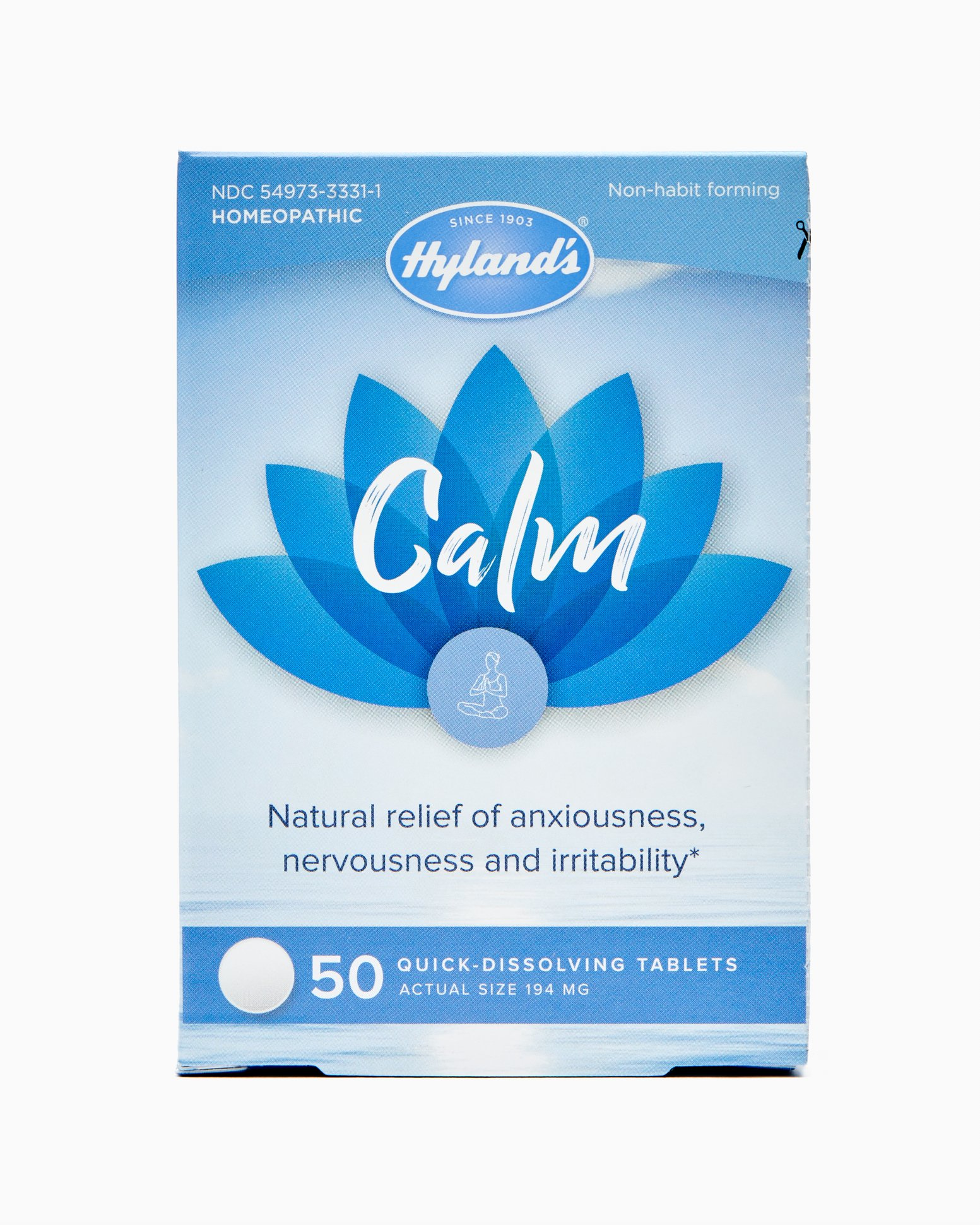 Hyland's Calm Tablets, Natural Relief of Anxiousness, Nervousness, and Irritability, 50 Count