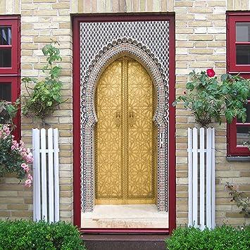 Amazon.com: Hongxin 2pcs/Set 3D Muslim Style DIY Door Art Mural ...