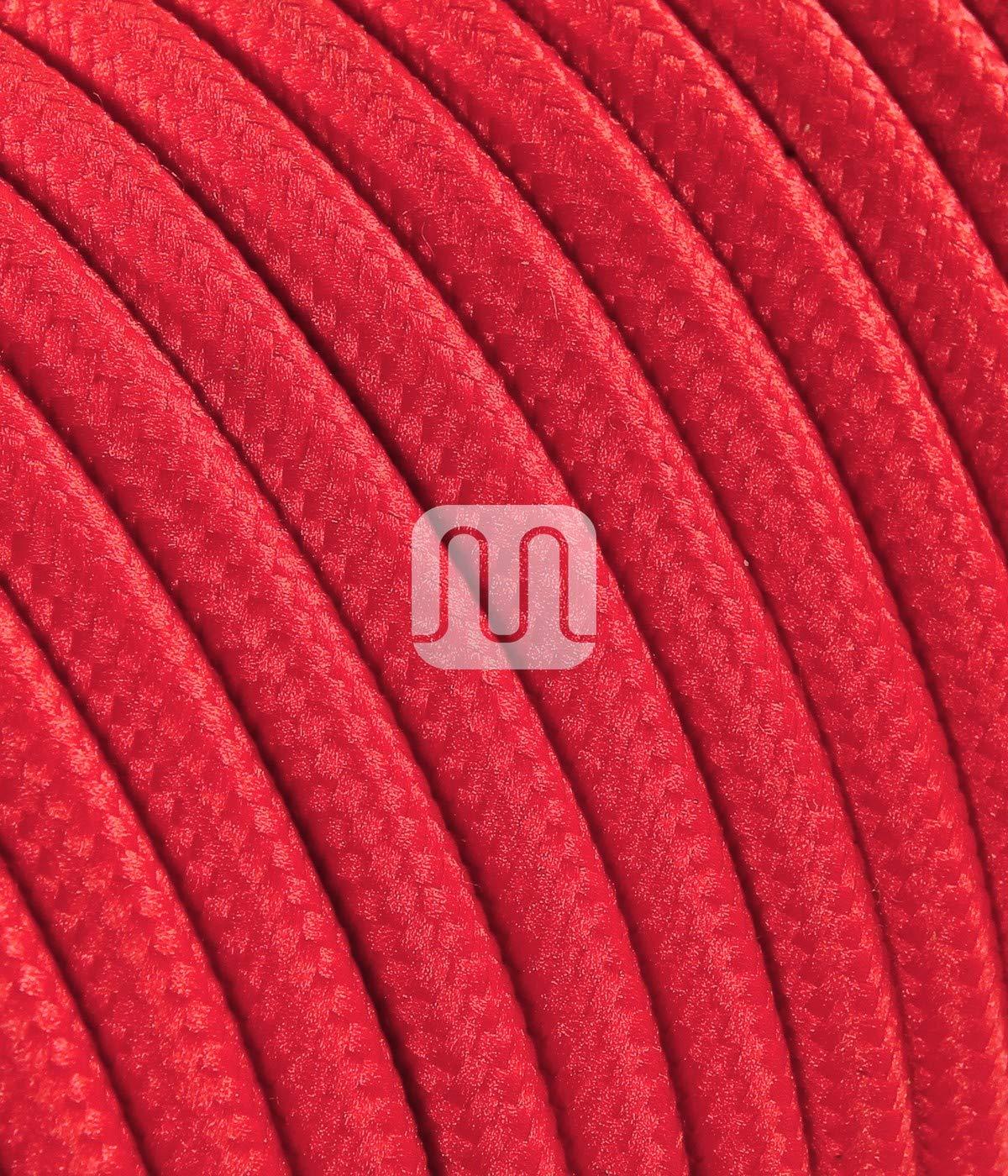 2x0.75mm/² Textilkabel mit E27 Fassung Stecker und Schalter 1,8 Meter Glattmantel, jute blau Zuleitung mit Stecker und Schalter 2-adrig