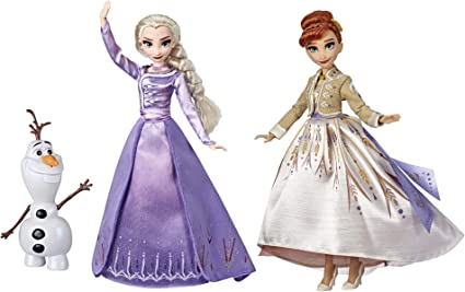 Disney Frozen Elsa Anna Olaf Deluxe Fashion Doll Set Con Vestidos De Primera Calidad Zapatos Y Accesorios Inspirados En Disney Frozen 2 Exclusivo De Amazon Toys Games