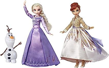 Disney Frozen Elsa Anna Olaf Deluxe Fashion Doll Set Con Vestidos De Primera Calidad Zapatos Y Accesorios Inspirados En Disney Frozen 2 Exclusivo De Amazon Toys Games