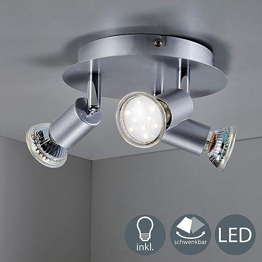 B K Licht Plafonnier 3 Spots Led Orientables Ampoules Led 3w
