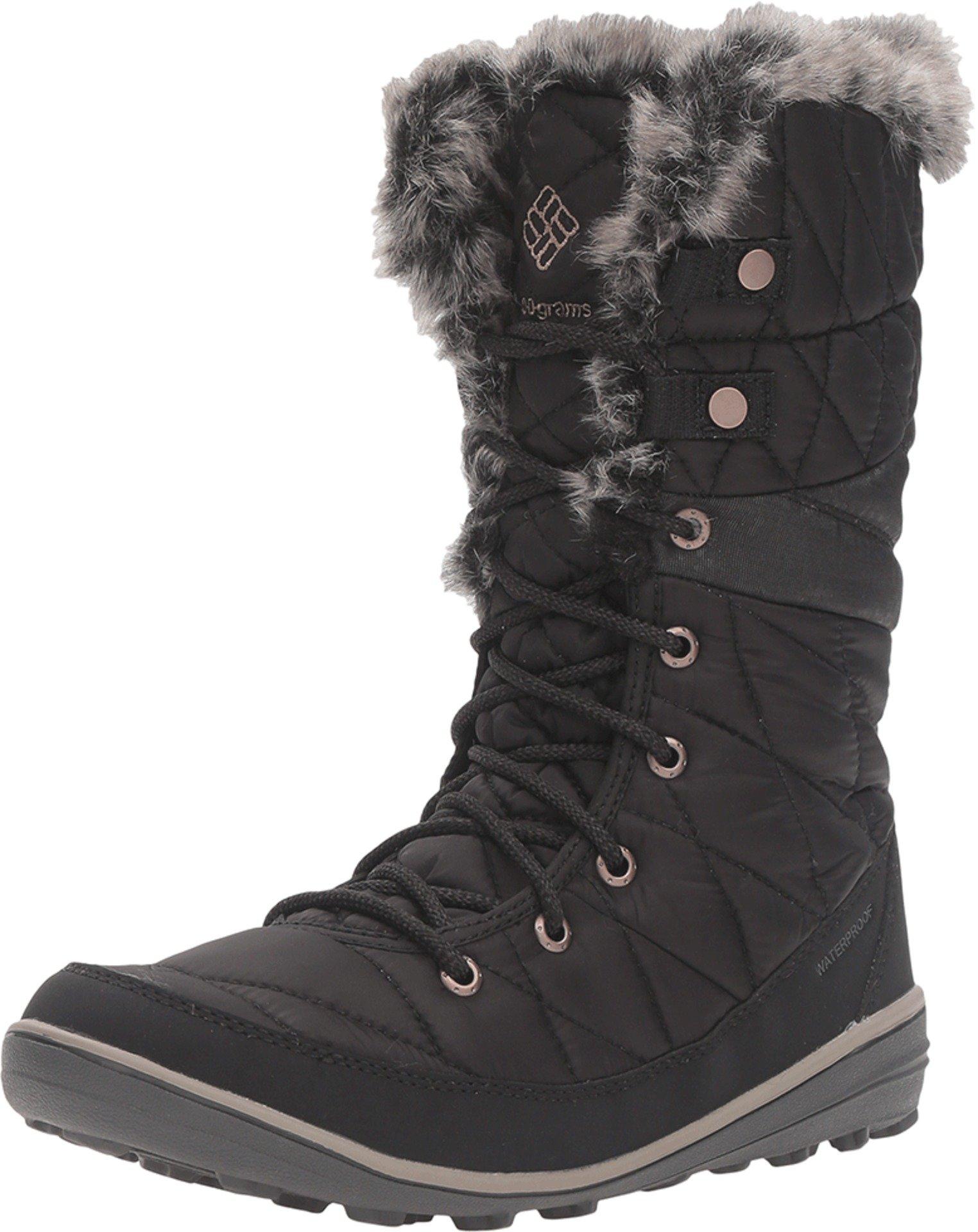 Columbia Heavenly Omni-Heat Snow Boot Winter Shoe - Black/Kettle - Womens - 8.5