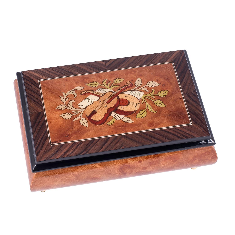超大特価 Italian Wood Hand Crafted InlaidライトBurl Italian Wood Musicalジュエリーボックス – Plays – Tune Turkish March B00UCD57XA, 海外最新:2f26f00d --- arcego.dominiotemporario.com