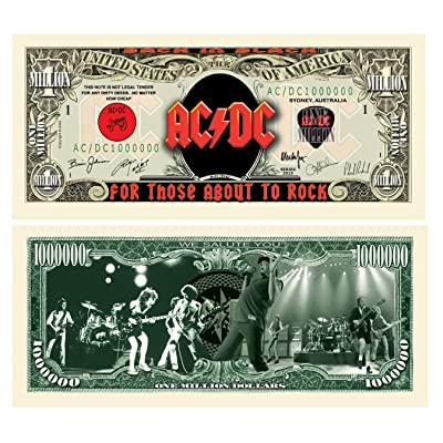 American Art Classics Pack of 5 - AC/DC Million Dollar Bill - Best Gift Or Keepsake for Fans of This Awesome Band: Toys & Games