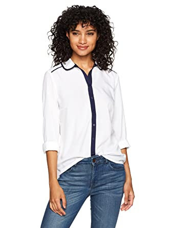 ba82aeb3173 U.S. Polo Assn. Women s Long Sleeve Fashion Shirt at Amazon Women s Clothing  store