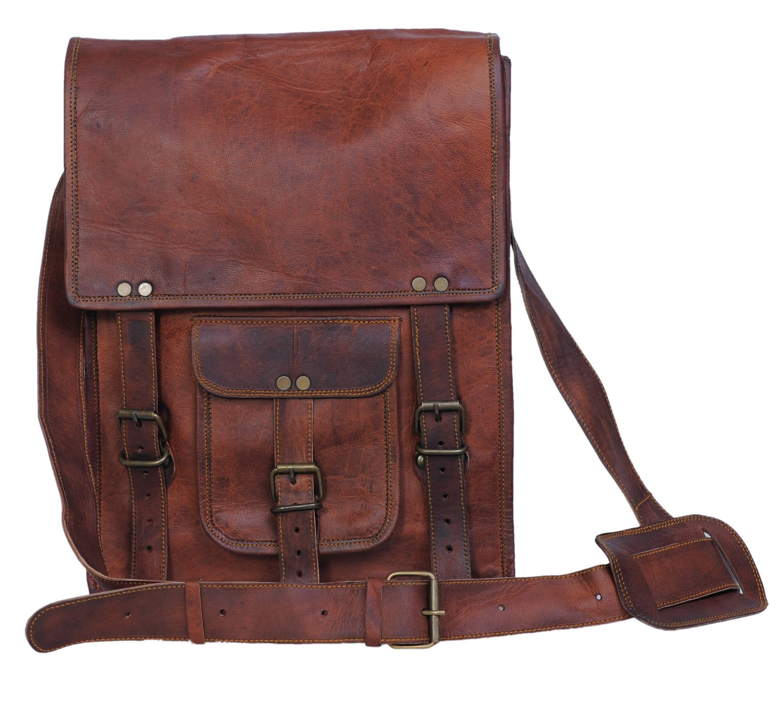 6c146e171f64 Komal s Passion Leather 11 Inch Sturdy Leather Ipad Messenger Satchel Bag