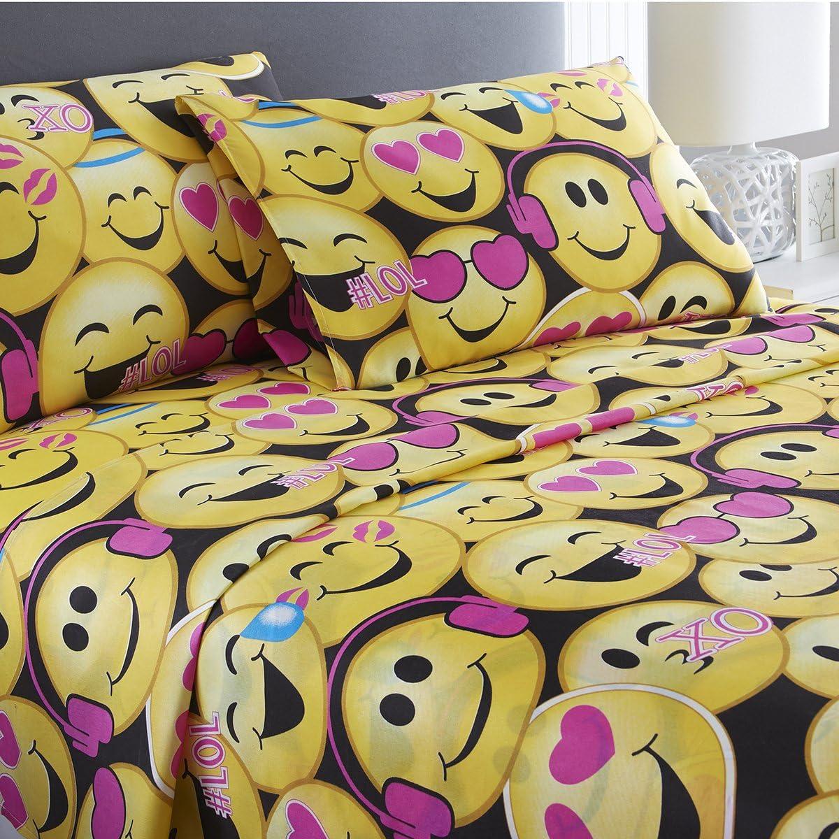 Full SPIRIT LINEN HOME Poop Emoji 3 Piece Sheet Set