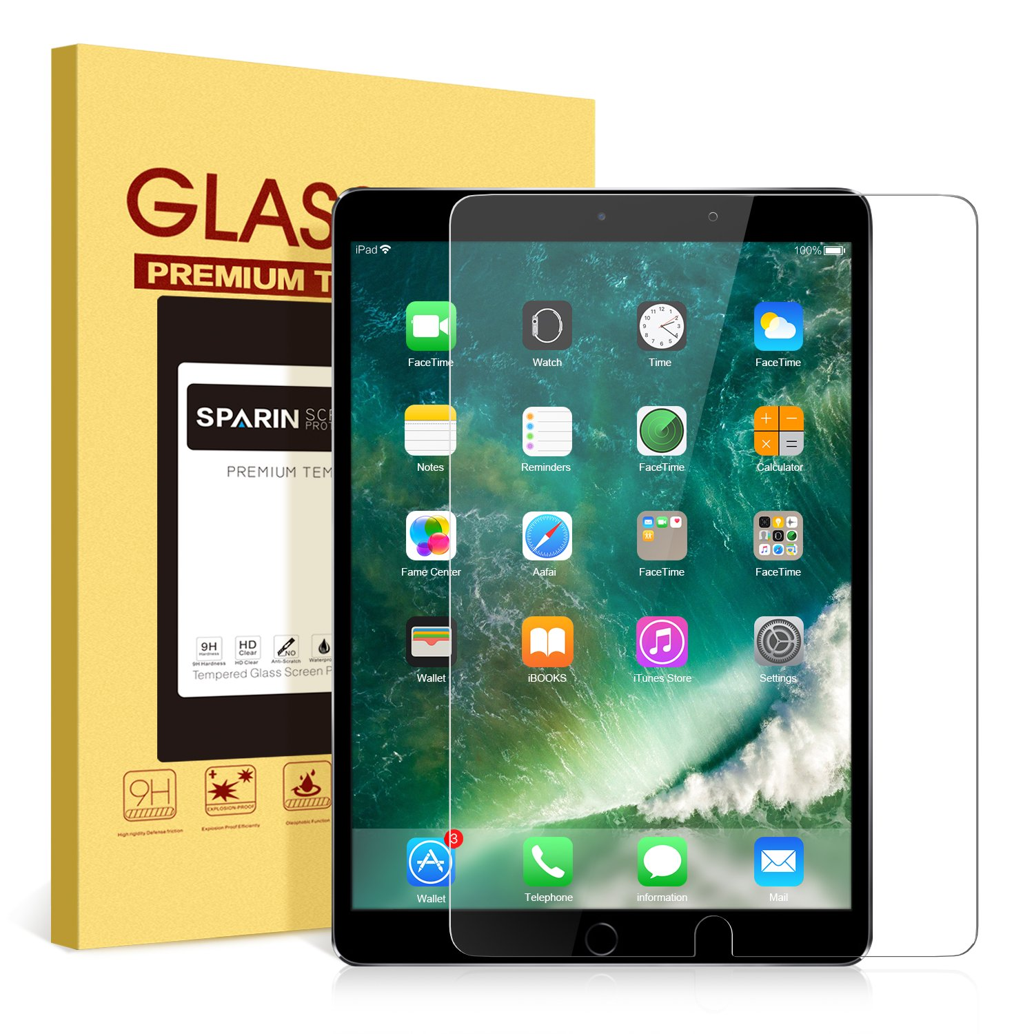 Surface pencil compatible tempered glass screen protector with 2 5d - Amazon Com Ipad Pro 10 5 Screen Protector Sparin Double Shielding Tempered Glass Apple Pencil Compatible Case Friendly 2 5d Round Edge Scratch
