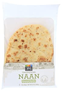 365 Everyday Value, Tandoori Naan, Roasted Garlic, 4 ct