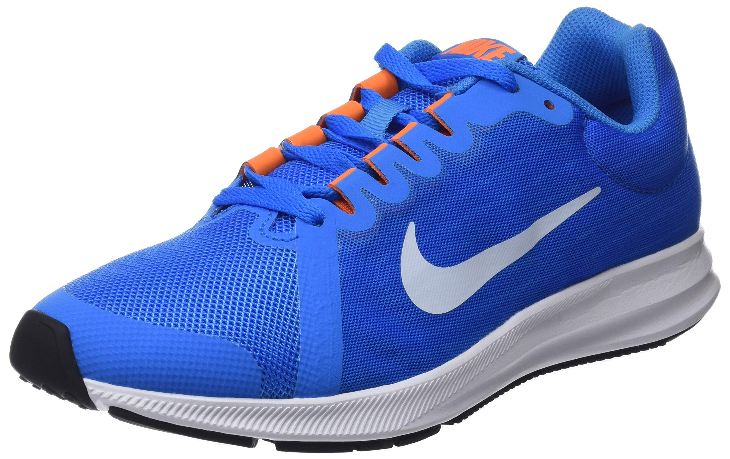 Nike Kids Downshifter 8 (GS) Running Shoe (5.5, Blue Hero/Football Grey)