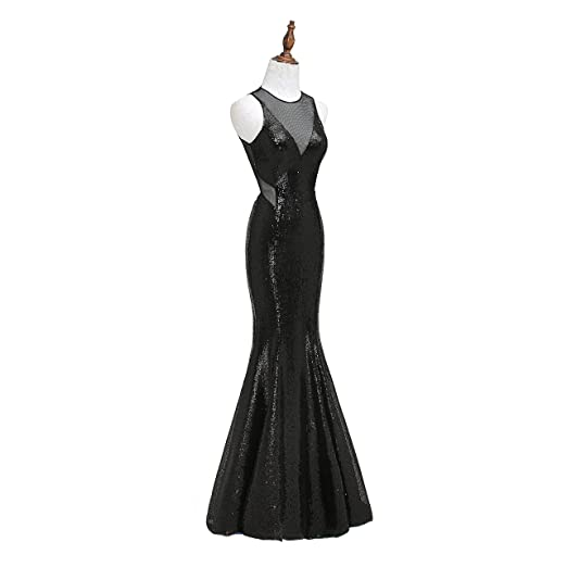 Amazon.com: VGBRIDAL Sequined Mermaid Formal Dresses Evening Wear Jewel Neck Backless Evening Prom Party Gowns: Clothing