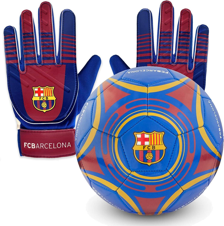 FCB FC Barcelona - Juego Oficial de Guantes de Portero y balón ...