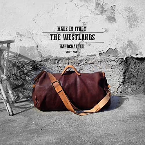 The Westlands Handmade Leather Duffel Bag Leather Travel Bag Handmade Made  in Italy Very Genuine Leather Full Grain Natural Adventure Travel  Backpacking ... 35a891e17a8ae
