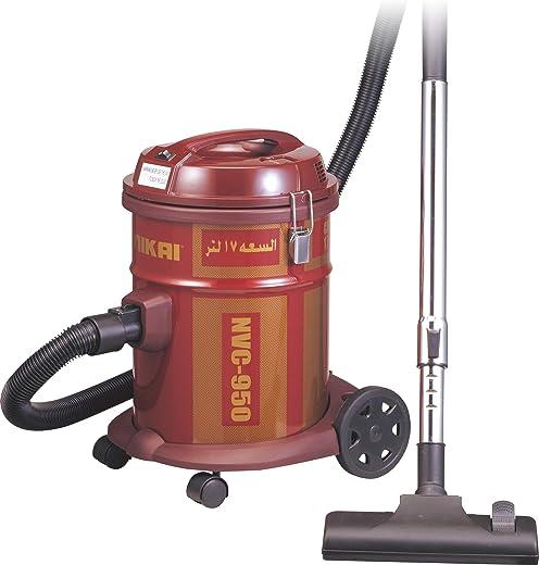 Nikai Drum Type Vacuum Cleaner 1400-1600 Watts, 17 Liter, Red NVC-950T
