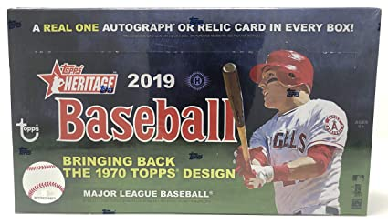 2019 Topps Heritage 1970 Design Baseball Cards Hobby Box