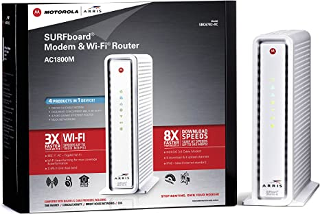 COX XFINITY,TIME WARNER MOTOROLA SBG6580 DOCSIS 3.0 Cable Modem Router COMCAST