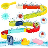 Sotodik Baby Bath Toys Assemble Set DIY Water Slide Waterfall Ball Tracks Bathtub Shower Toys with Wall Suction Swimming…