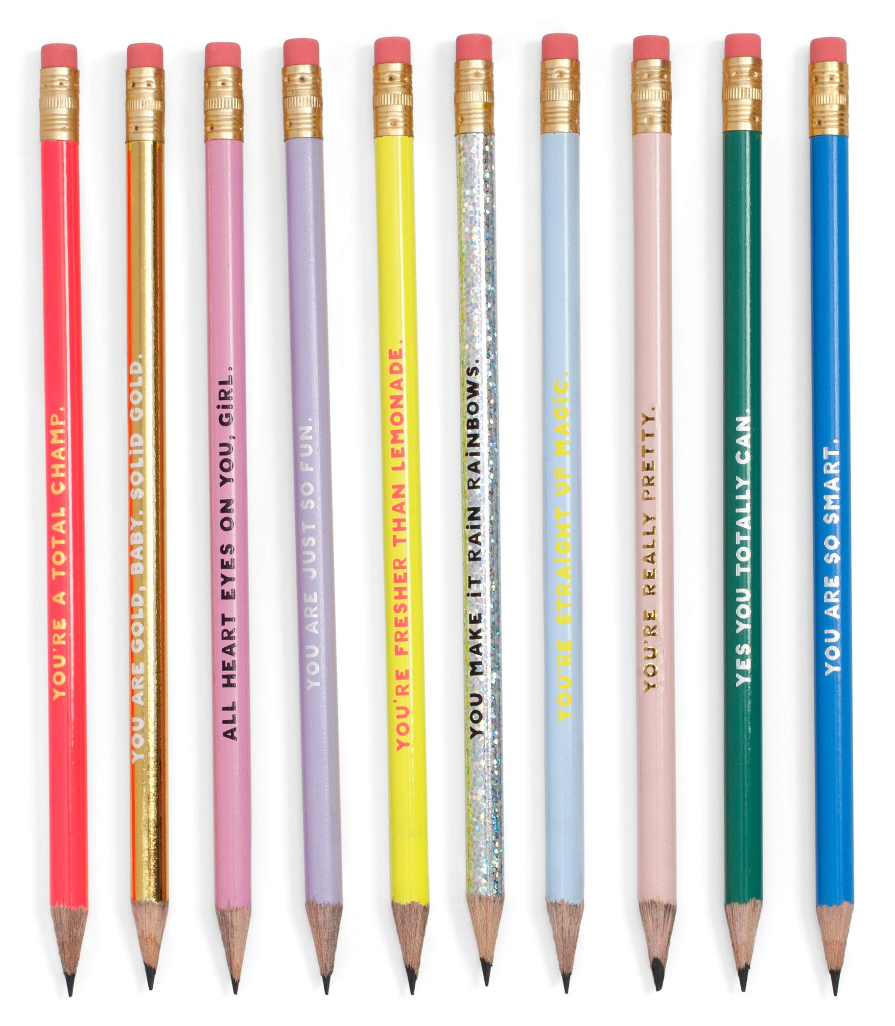 ban.do Women's Write On Graphite Pencil Set of 10, Compliments by ban.do